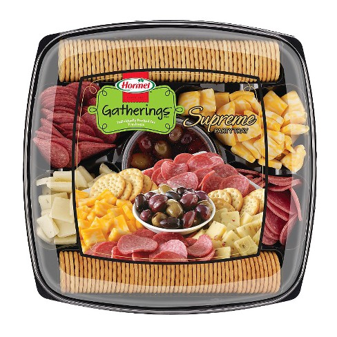 hormel supreme party tray meat and cheese platters 2 5lb target