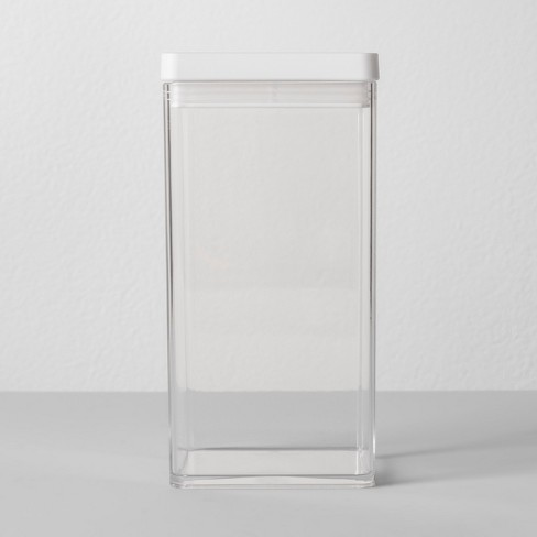"""4""""W X 4""""D X 8""""H Plastic Food Storage Container Clear - Made By Design™ - image 1 of 4"""