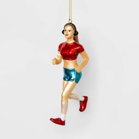 Running Girl Christmas Ornament - Wondershop™ - image 1 of 2