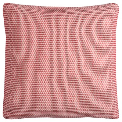 """22""""x22"""" Oversize Poly Filled Geometric Small Scale Square Throw Pillow Red - Rizzy Home"""