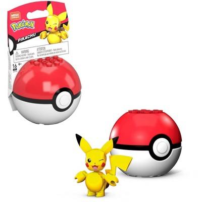 Mega Construx Pokemon Pikachu Poke Ball Construction Set