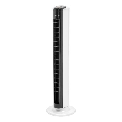 "32"" Tower Fan Oscillating with Adjustable Vents (Remote and Timer)White/Black - Woozoo"