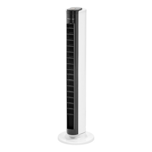 """32"""" Tower Fan Oscillating with Adjustable Vents (Remote and Timer) White/Black - Woozoo - image 1 of 4"""
