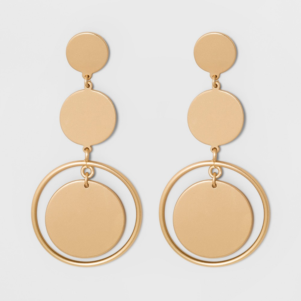 Sugarfix by BaubleBar Gold Coin Drop Earrings - Gold, Girl's
