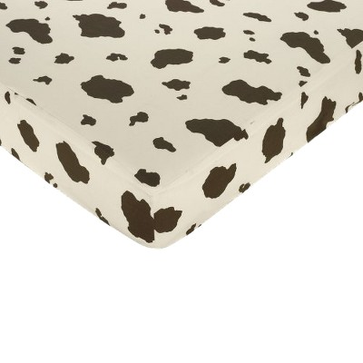 Sweet Jojo Designs Cowgirl Fitted Crib Sheet - Cow Print