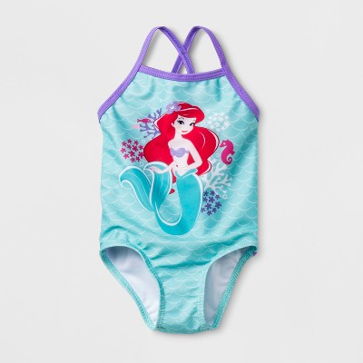 Baby Girls' The Little Mermaid One Piece Swimsuit - Green 3-6M