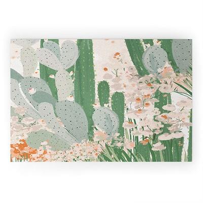 Alison Janssen Cactus Garden 3 Looped Vinyl Welcome Mat - Society6