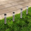 Solar Outdoor LED Light Path Walkway Lights - Silver - Pure Garden - image 3 of 4