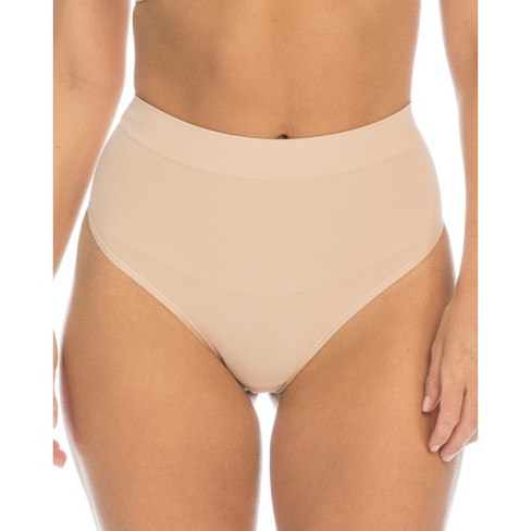 6493139354 Assets® By Spanx® Women s All Around Smoothers Thong - Nude L   Target
