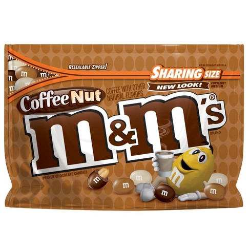 M&M's Coffee Nut Peanut Sharing Size Chocolate Candies - 9.6oz - image 1 of 5