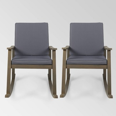 Candel 2pk Acacia Wood Rocking Chair - Christopher Knight Home