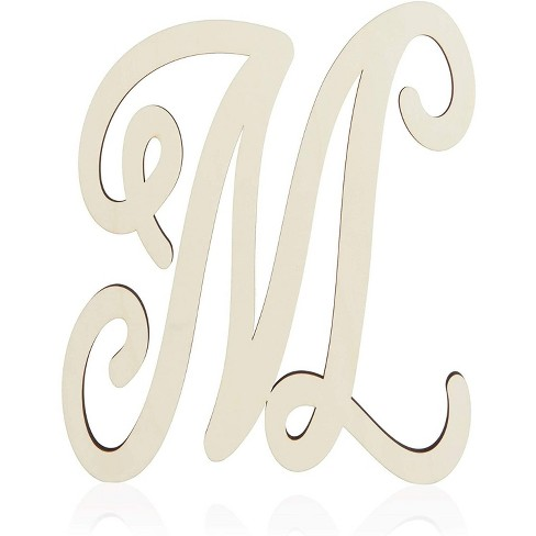 Unfinished Wood Monogram Letter M (13 in.) - image 1 of 2