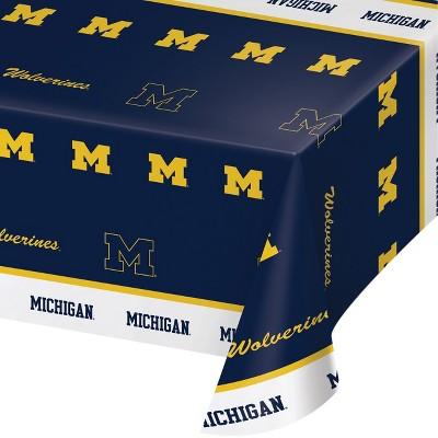 Michigan Wolverines Plastic Tablecloth