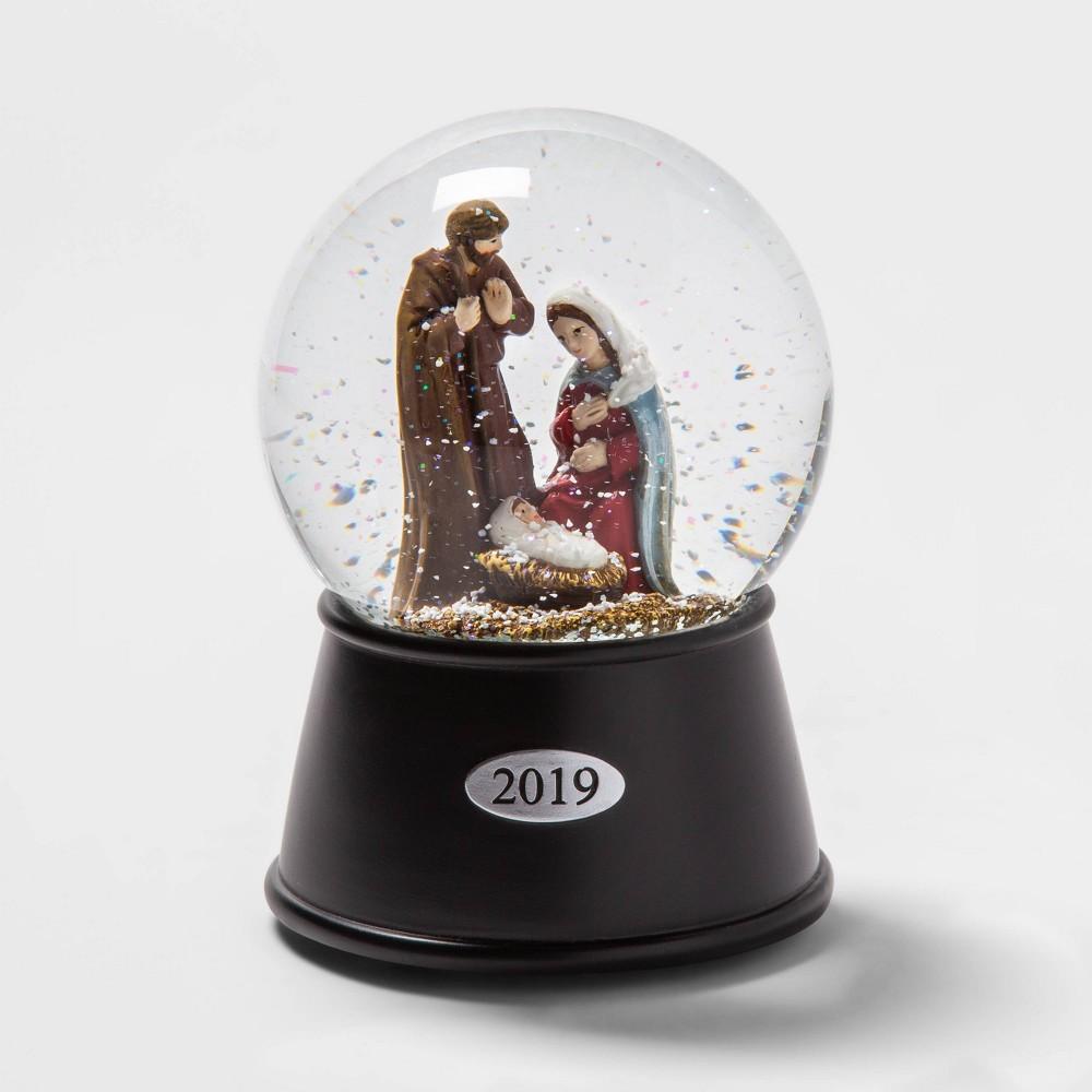 "Image of ""5.5"""" x 3.8"""" Nativity Scene Musical Snow Globe - Wondershop"""