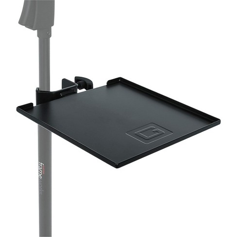 Gator GFW-SHELF0909 Gator Frameworks small microphone stand clamp-on utility shelf, capacity up to 10lbs. - image 1 of 4