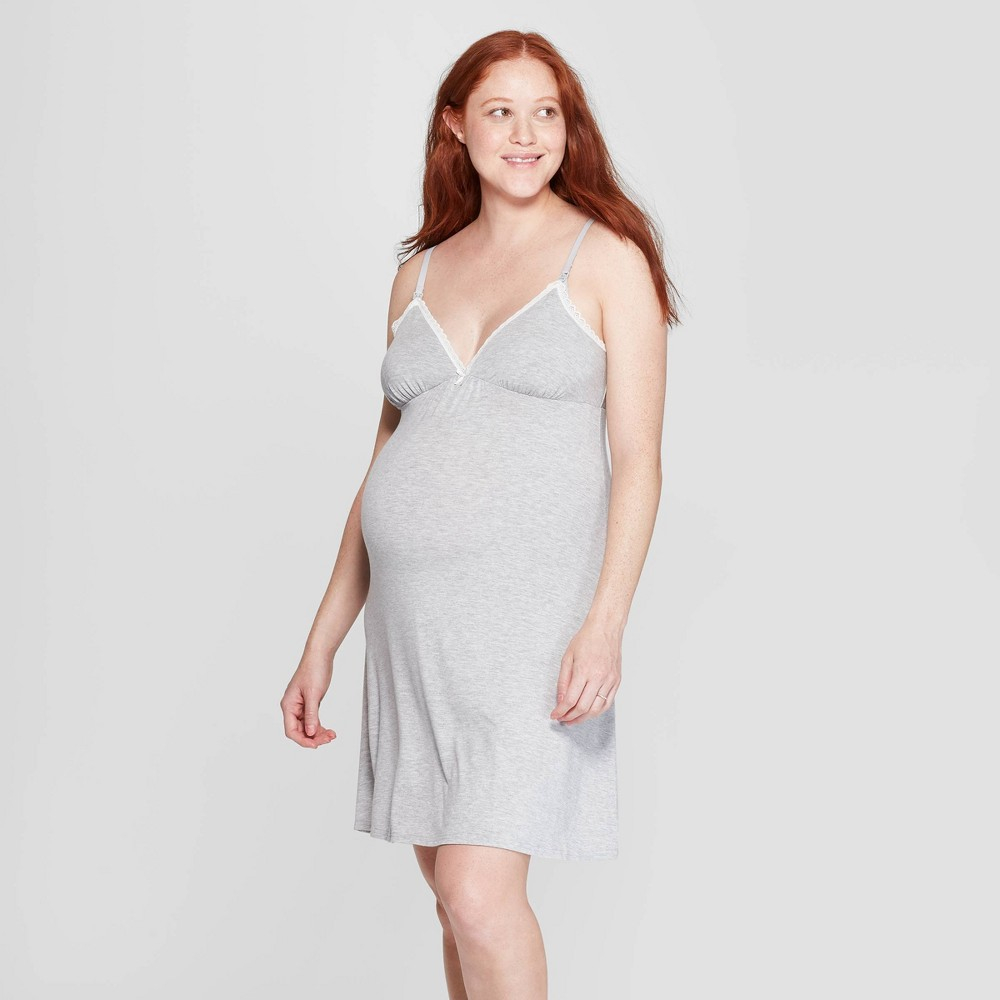 a02793ce23127 Womens Beautifully Soft Nursing Nightgown Stars Above Gray S