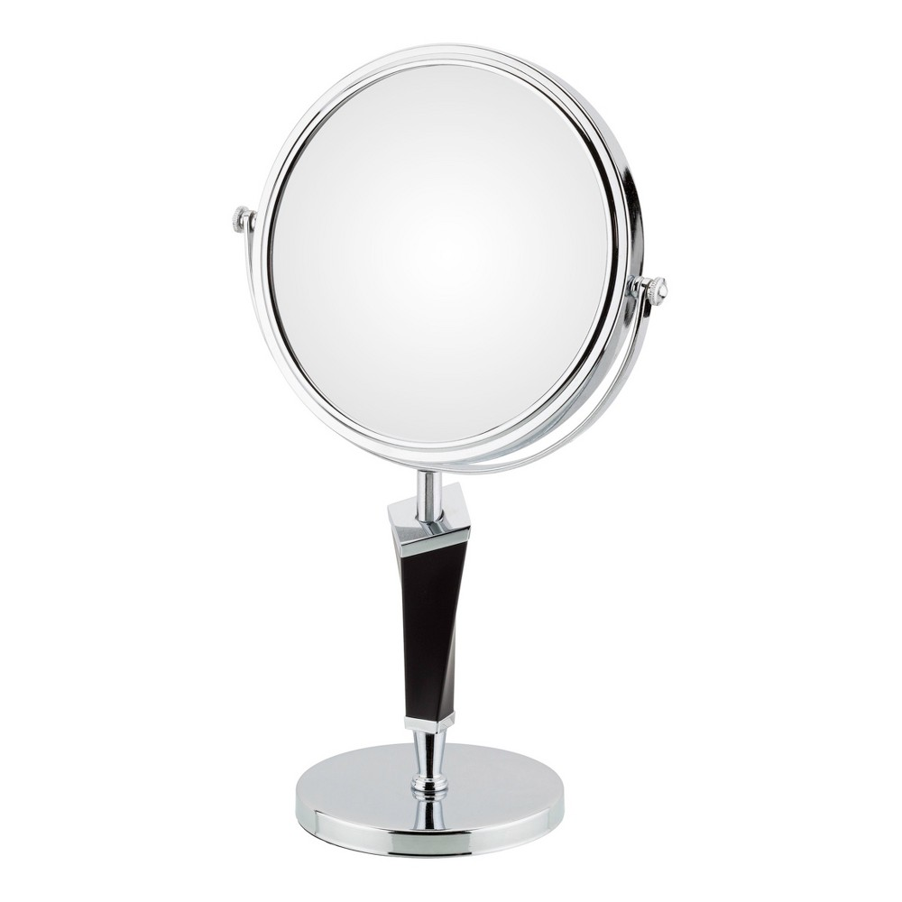 "Image of ""Mirror Image 5""""x1"""" Helix Free Standing Vanity Mirror Chrome"""