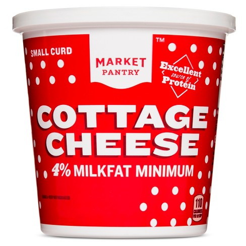 Small Curd 4% Milkfat Minimum Cottage Cheese - 24oz - Market Pantry™ - image 1 of 1