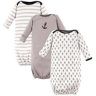 Luvable Friends Baby Boy Cotton Gowns, Boy Nautical, 0-6 Months