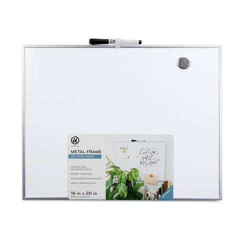 """U Brands 16""""x20"""" Magnetic Dry Erase Board Aluminum Frame - image 1 of 4"""