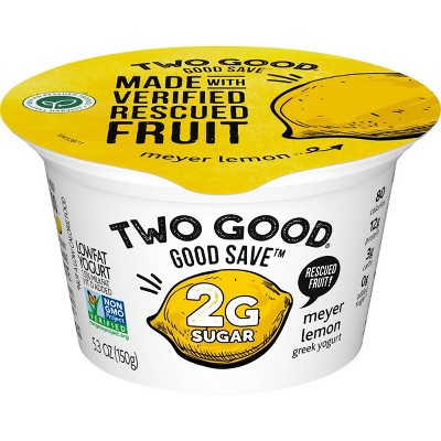 Two Good Good Save Meyer Lemon Greek Yogurt - 5.3oz