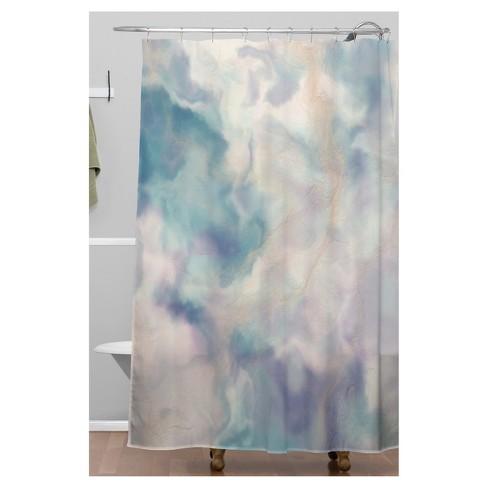 Watercolor Shower Curtain Purple