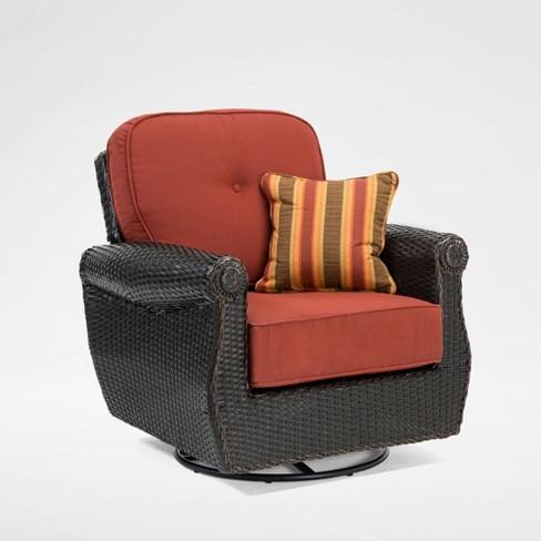 La Z Boy Outdoor Breckenridge 1pc, Outdoor Patio Furniture With Swivel Rocker Chairs