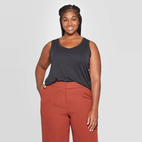 Women's Plus Size Scoop Neck Tank Top - A New Day™ - image 1 of 3