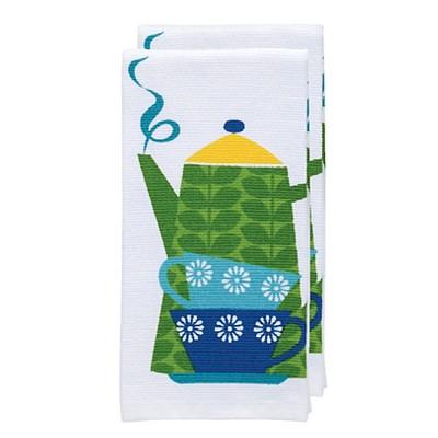Green Tea Print Kitchen Towel (16 x26 )T-Fal