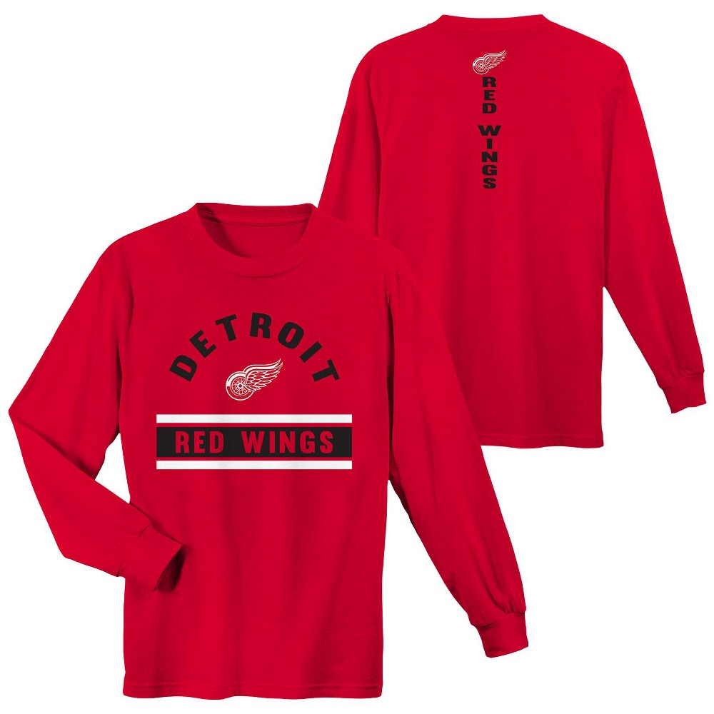 Detroit Red Wings Boys' Warming House Long Sleeve T-Shirt - S, Multicolored
