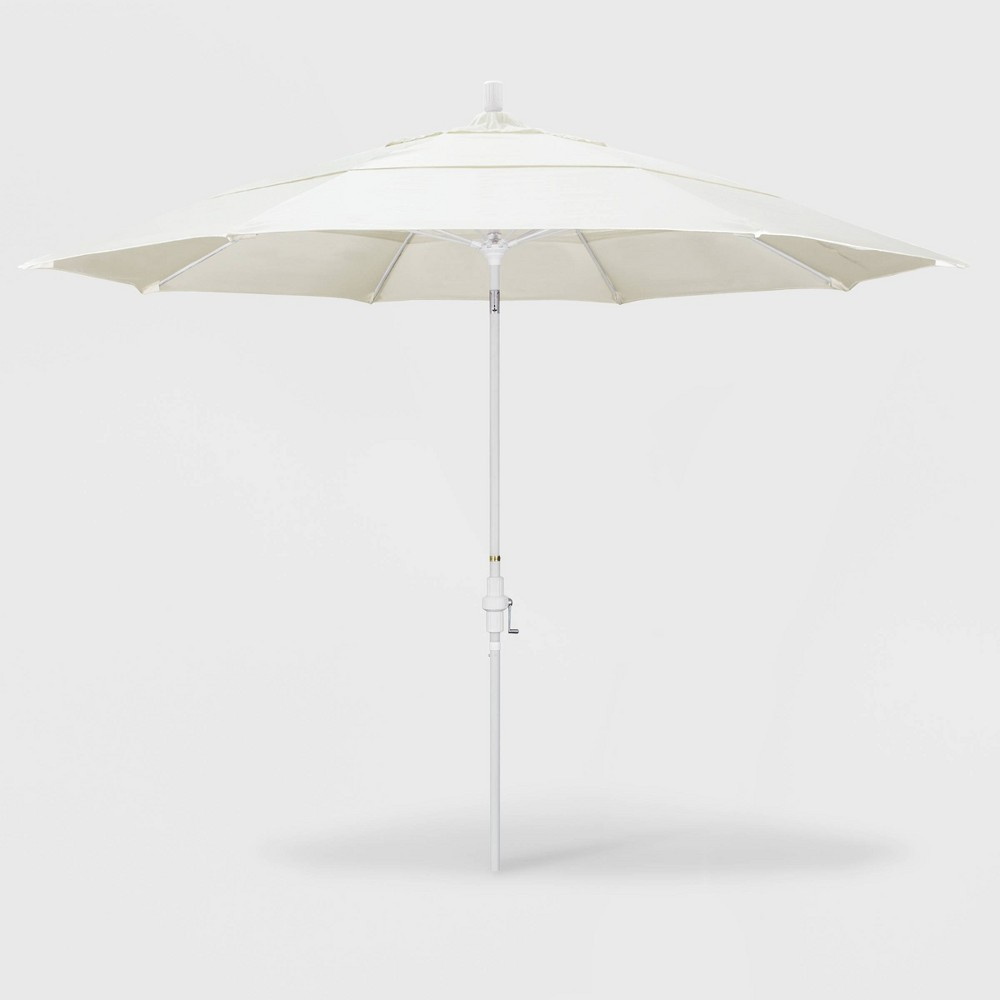 Image of 11' Sun Master Patio Umbrella Collar Tilt Crank Lift - Pacifica Canvas - California Umbrella
