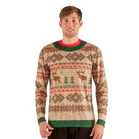 c33303e4371 Men s Costume Ugly Christmas Sweater Reindeer