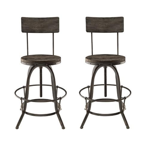 Peachy Procure Bar Stool Set Of 2 Black Modway Theyellowbook Wood Chair Design Ideas Theyellowbookinfo