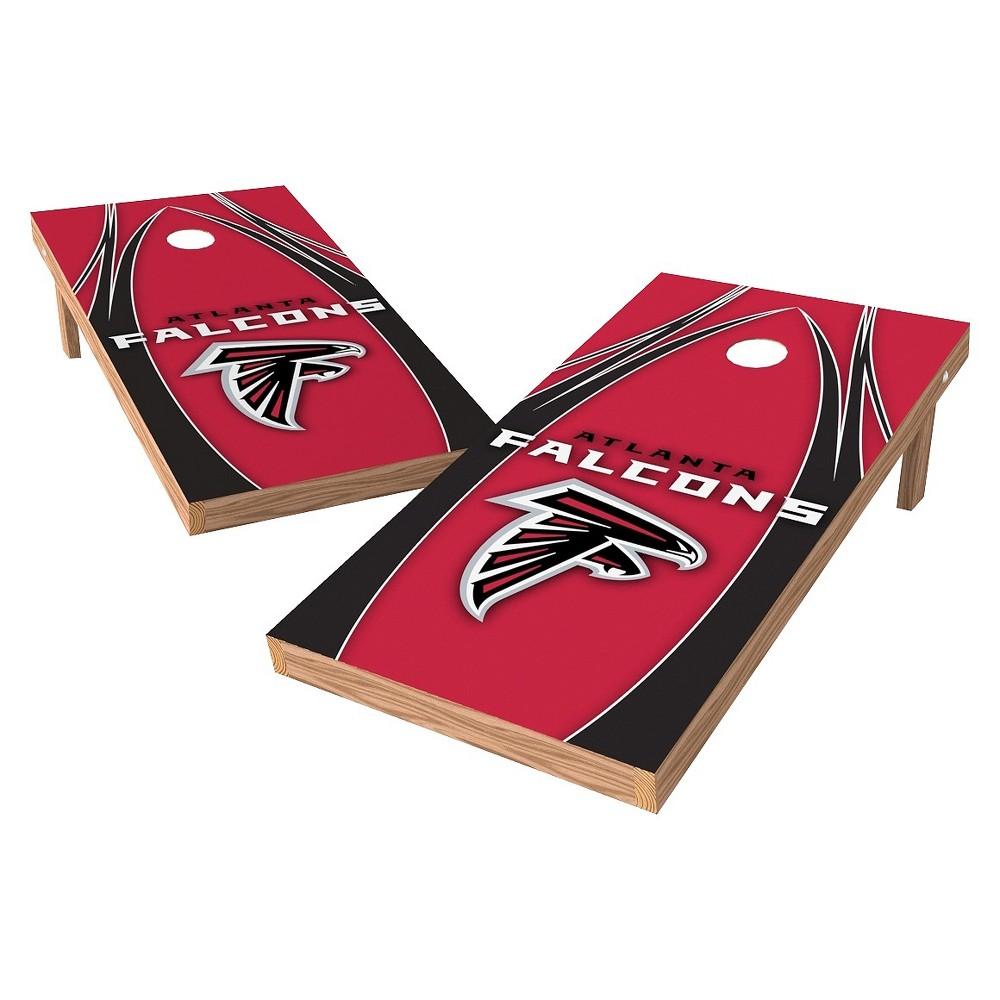 Atlanta Falcons Wild Sports XL Shield Logo Cornhole Bag Toss Set - 2x4 ft.