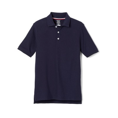 French Toast Young Men's Uniform Short Sleeve Pique Polo Shirt - Navy