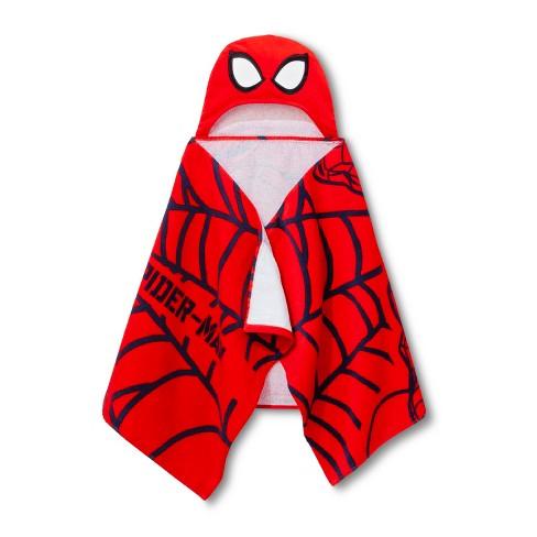 Marvel Spider-Man Hooded Bath Towel Red - image 1 of 3