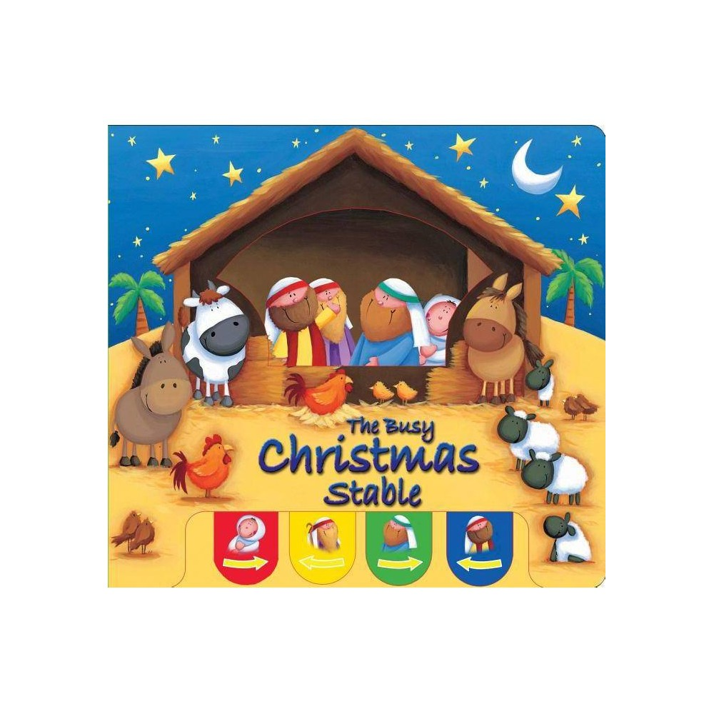 Busy Christmas Stable Candle Peek A Boo By Juliet David Board Book