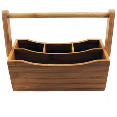 BergHOFF 4-Compartment Bamboo Flatware Caddy