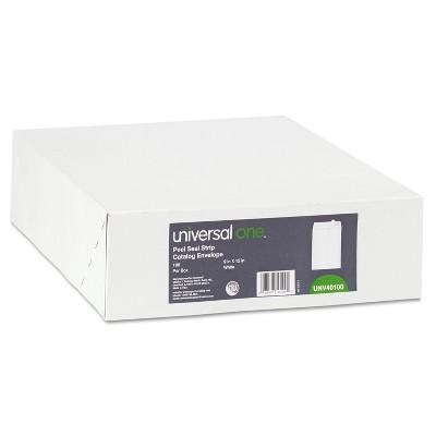 UNIVERSAL Peel Seal Strip Catalog Envelope 9 x 12 White 100/Box 40100