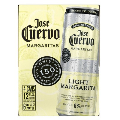 Jose Cuervo Sparkling Light Margarita Cocktail - 4pk/355ml Cans