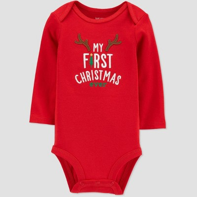 Baby My First Christmas Ever' Child Bodysuit - Just One You® made by carter's Red Newborn