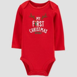 Baby 'My First Christmas Ever' Child Bodysuit - Just One You® made by carter's Red
