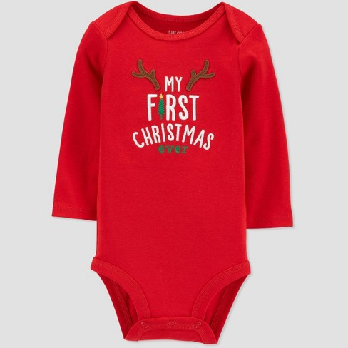 Baby 'My First Christmas Ever' Child Bodysuit - Just One You® made by carter's Red - image 1 of 1