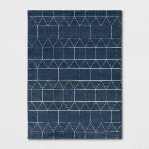 5 X7 Elle Linear Grid Woven Area Rug Navy Project 62 Target