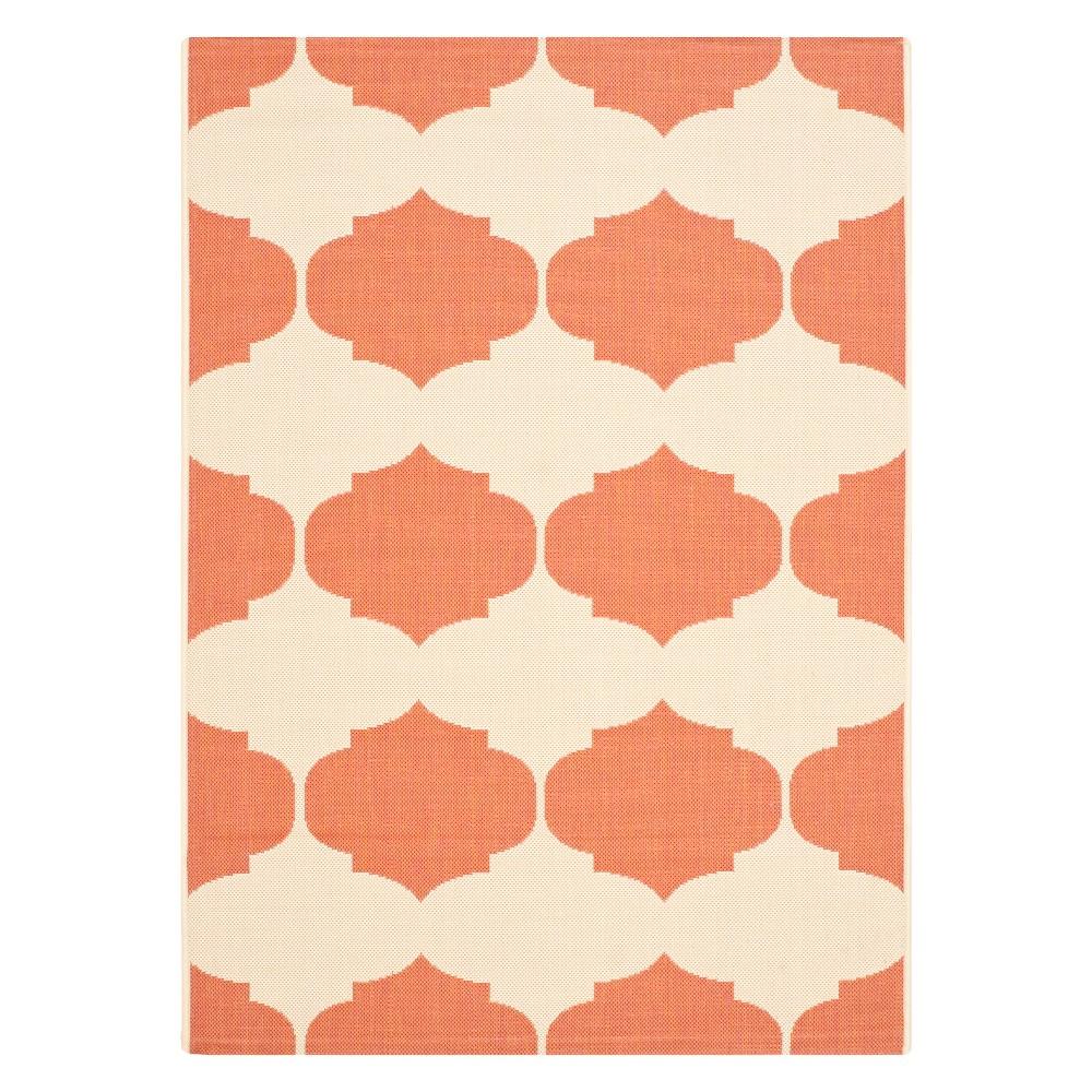 27X5 Rectangle Brema Outer Patio Rug Beige/Terracotta - Safavieh Promos