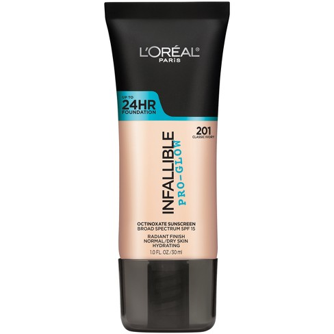 L'Oreal Paris Infallible Pro-Glow Foundation - Light Shades - 1.0 fl oz - image 1 of 3