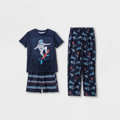 Boys' 3pc Astronaut Shark Pajama Set - Cat & Jack™ Blue