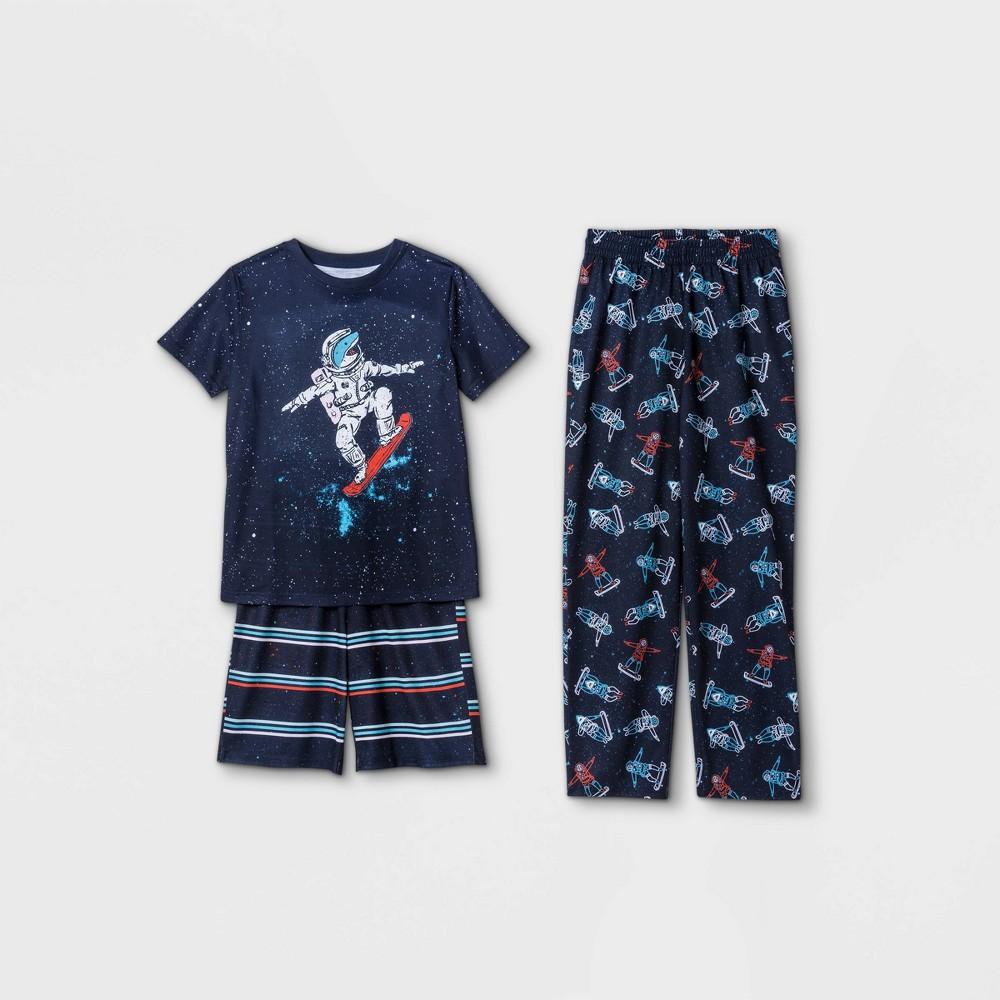 Boys 39 3pc Astronaut Shark Pajama Set Cat 38 Jack 8482 Blue M