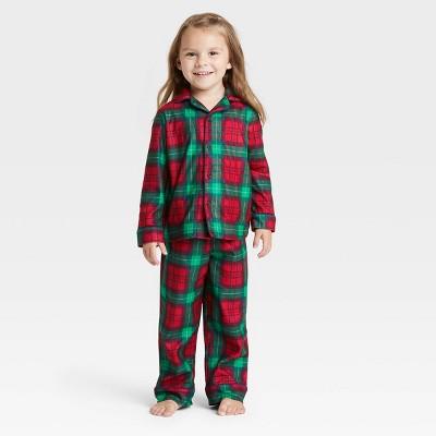 Toddler Holiday Plaid Flannel Matching Family Pajama Set - Wondershop™ Red