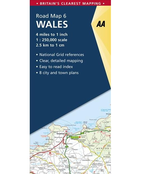 Aa Wales Road Map -  (Aa Road Map Britain) (Paperback) - image 1 of 1